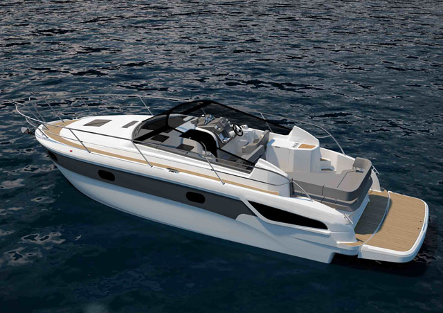 Open top design – Bavaria Sport 300 and Sport 330