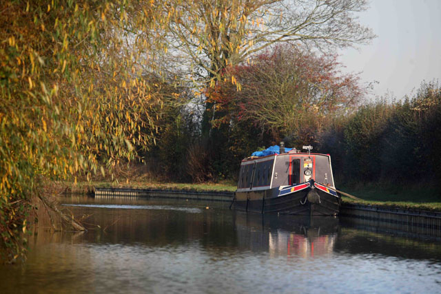 Traditionally painted narrowboat