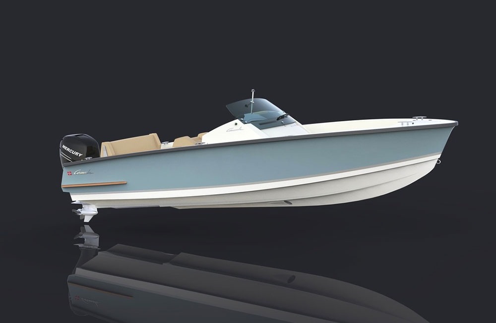 Powerboats at Southampton: With the Mercury 400R, the Cormate U23 will be good for 80 knots.