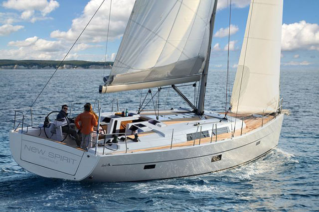 The Hanse 445 in all her face-lifted glory.