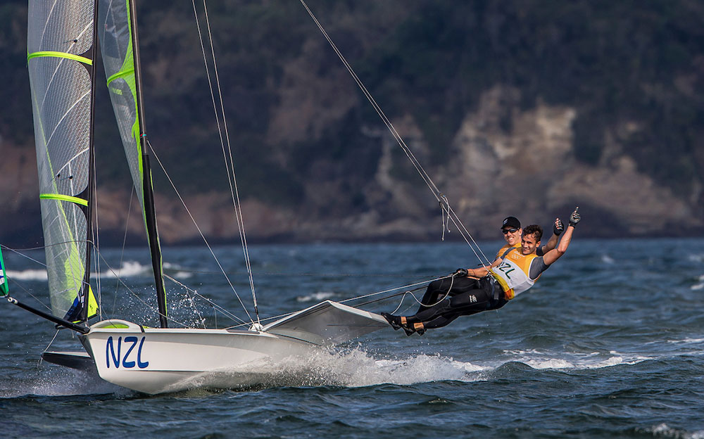 Kiwi domination in the 49er: 2016 Rio Olympic Games: Sailing: Photo Sailing Energy/World Sailing.