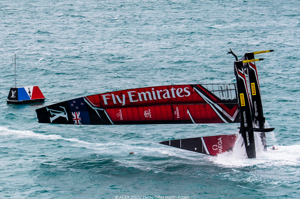 2017 America's Cup New Zealand capsize