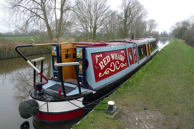 Narrowboat with a traditional style stern