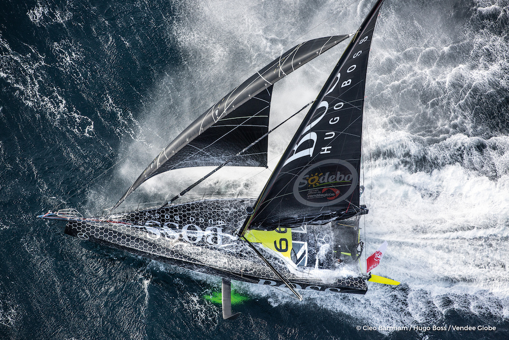 Alex Thomson's Hugo Boss is lying second in the Vendee Globe race