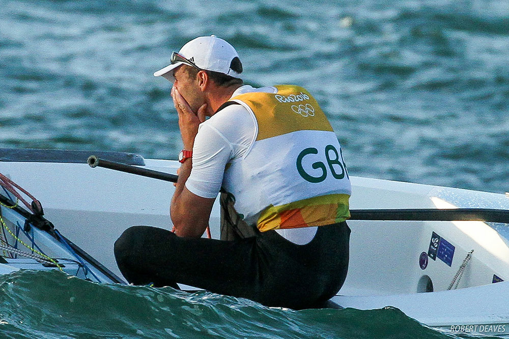 Giles Scott gold Olympic medal in Rio 2016. Photo Robert Deaves/Finn Class.