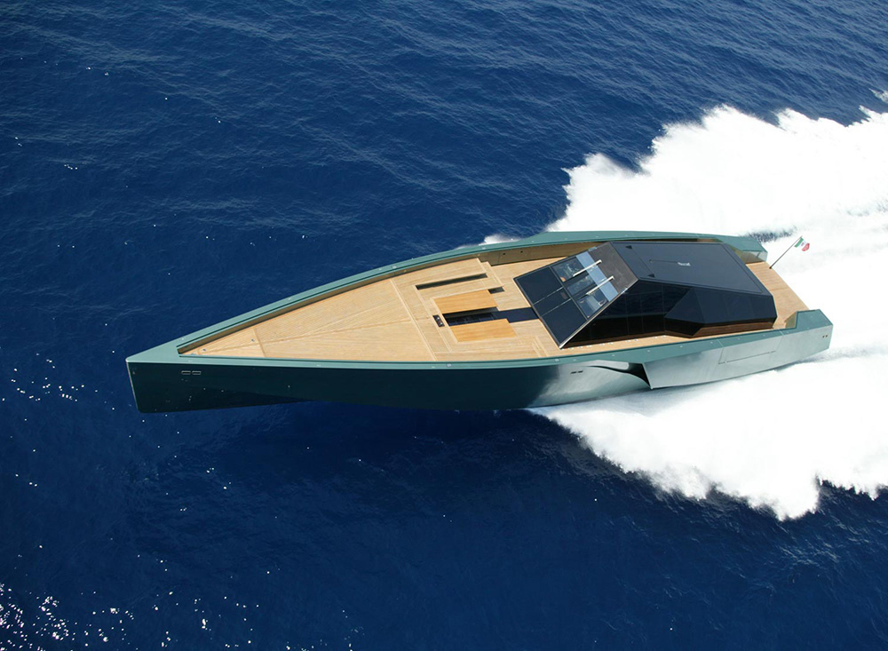 The stylish Wally 118 powerboat