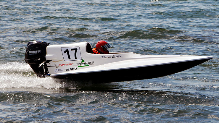 Powerboat racing:  Hydroplane