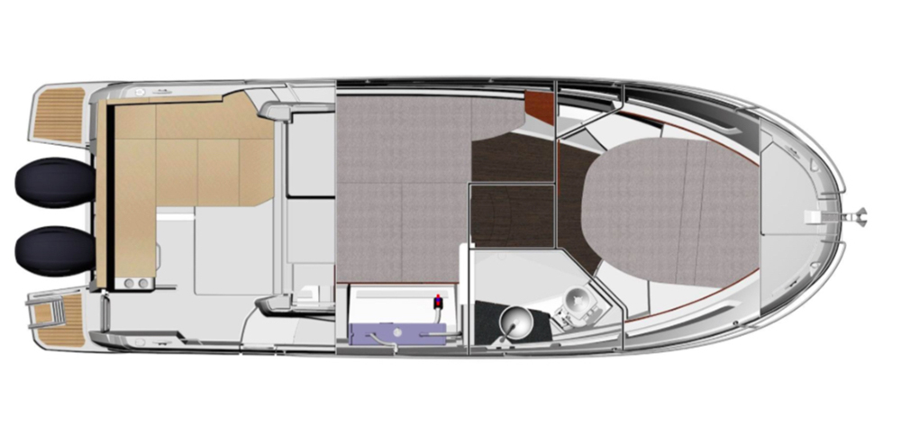 Jeanneau Merry Fisher 895 lower deck