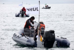 The new Olympic RIB fleet gets some training done