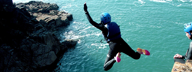 Top Watersports: Coasteering photo by Nick Hurst of Preseli Venture