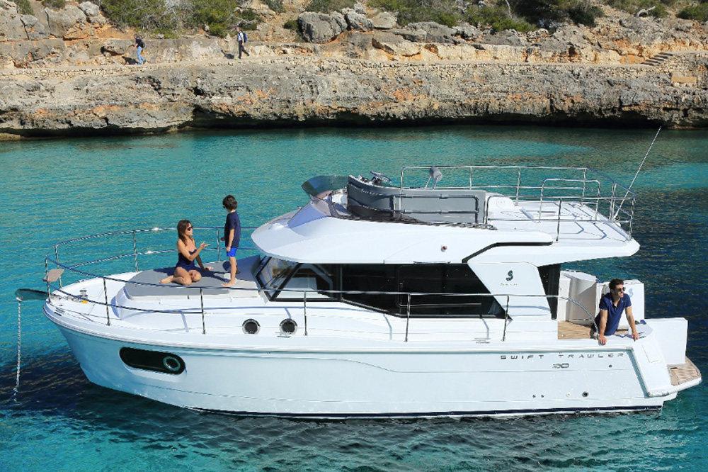 The Beneteau ST30 is a compact trawler