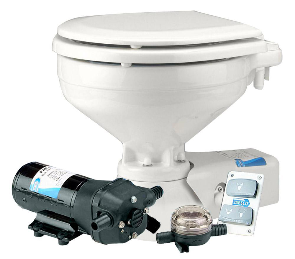 Electric pump out toilet macerator