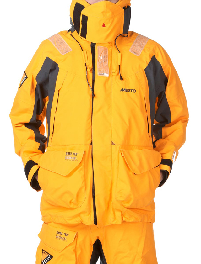 Yellow foul weather gear