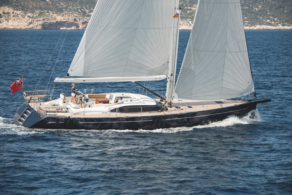Oyster 675 under sail