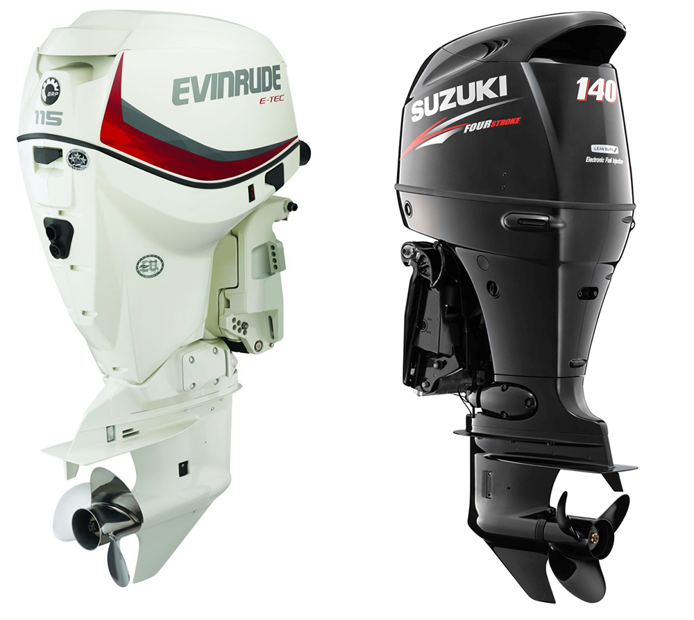 Outboard engines: Evinrude ETEC 115 HO and the Suzuki DF140A