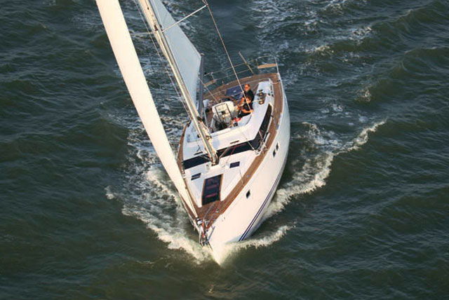 The Gunfleet 43 under sail