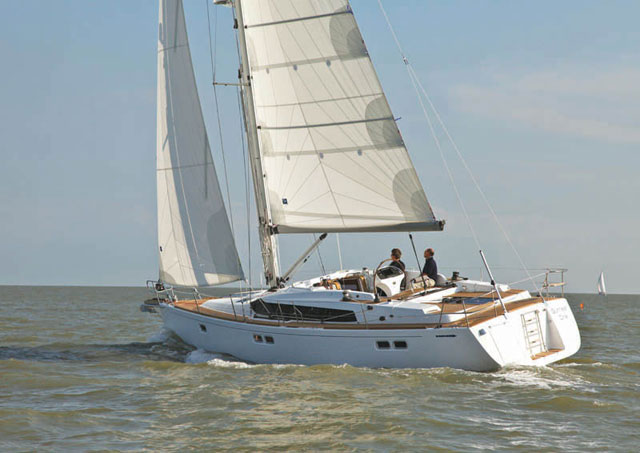 Gunfleet 43 under sail