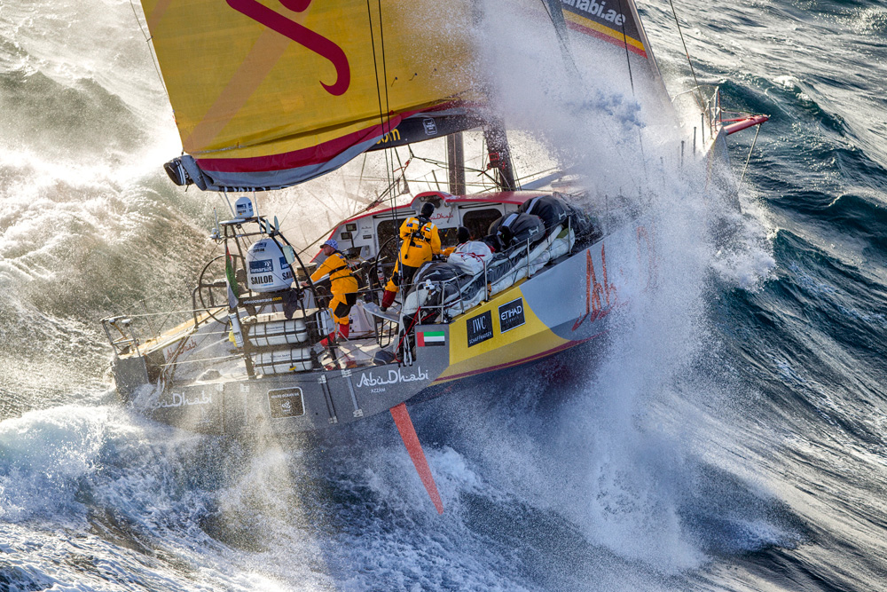 Abu Dhabi Ocean Racing's Azzam. Photo Ainhoa Sanchez/Volvo Ocean Race.