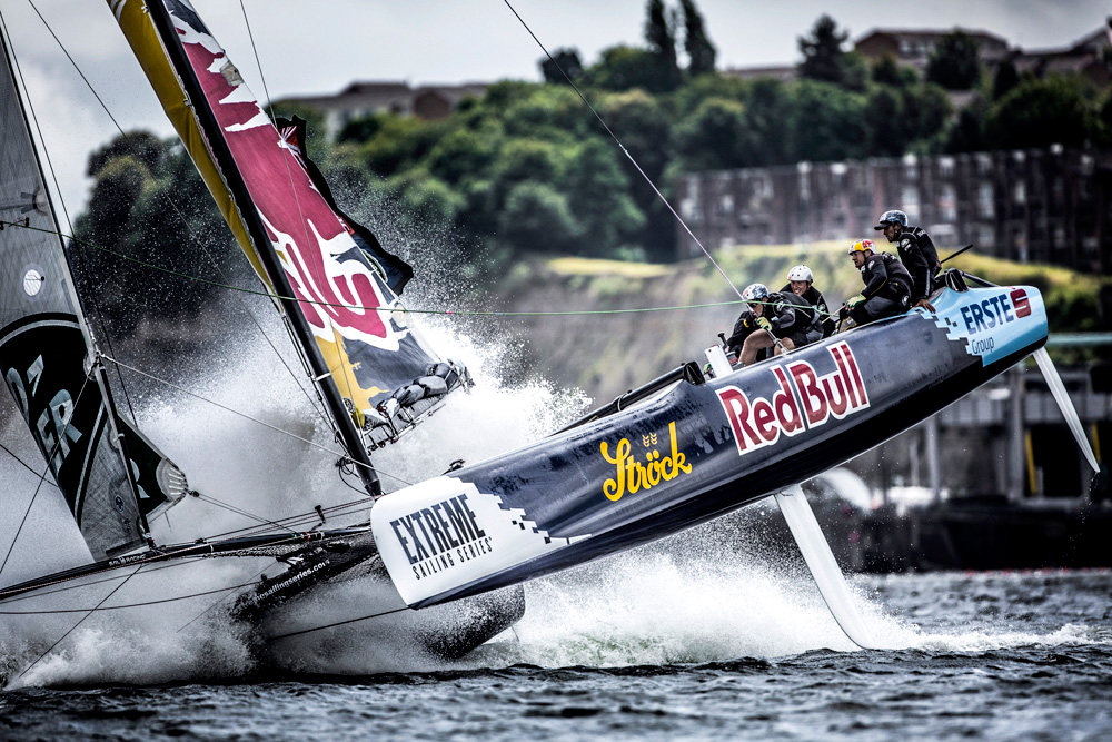 Extreme Sailing in Cardiff. Photo Lloyd Images.