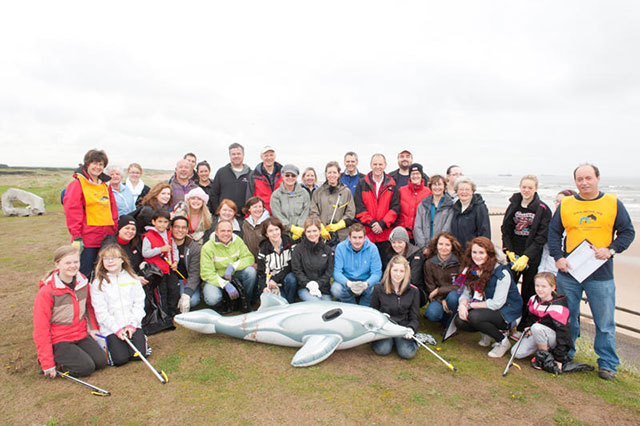 Aberdeen beach clean