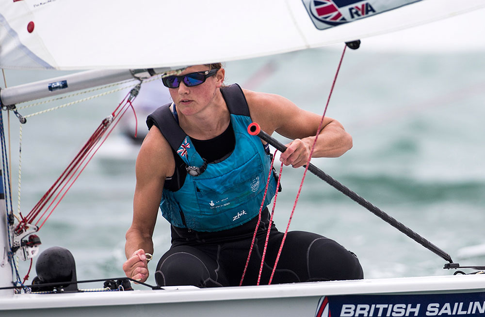 Alison Young was on top form when she won the Laser Radial worlds in Mexico in April 2016. Photo Richard Langdon/British Sailing Team.