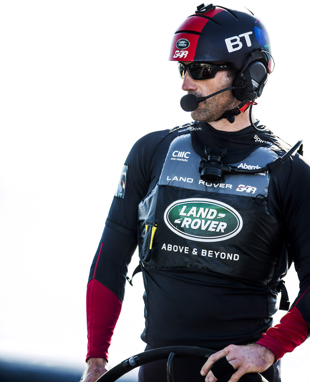 Photo of Sir Ben AInslie wearing Spinlock T2 PFD