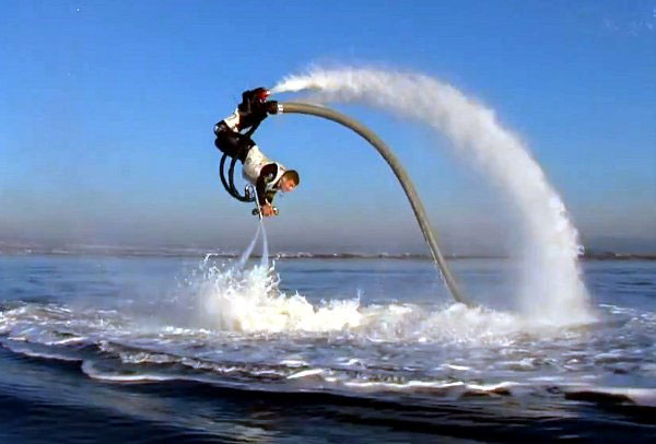 A demonstration of the tricks you can do with a flyboard