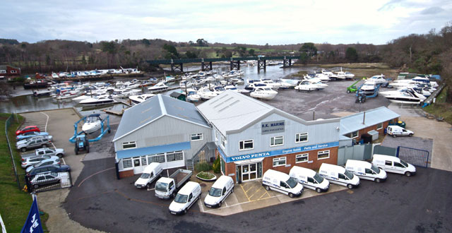 New Volvo Penta service facility in Hamble