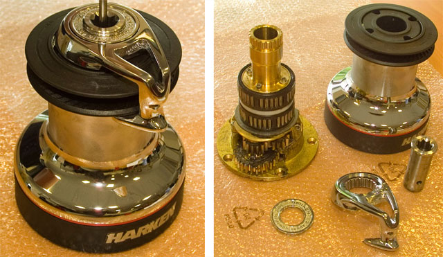 Servicing a modern Harken self-tailing winch