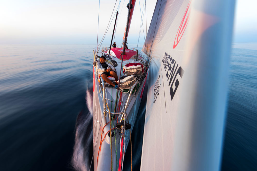 Dongfeng in the Volvo Ocean Race. Photo by Sam Greenfield/Dongfeng Race Team/Volvo Ocean Race.