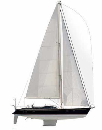 The sailplan on the Discovery 57