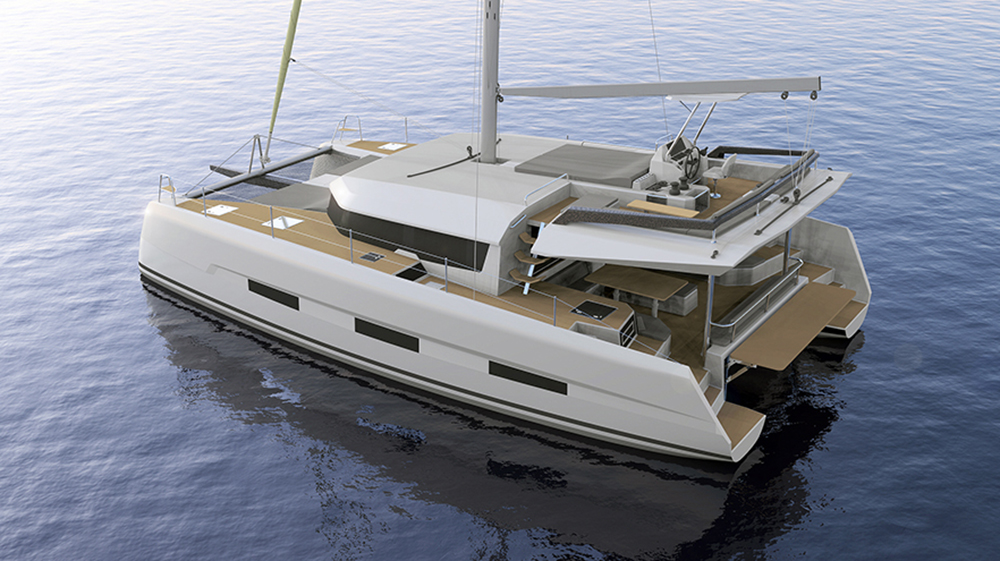 Dufour 48 catamaran outdoor living space