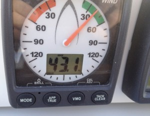 Wind speed 43.1 knots