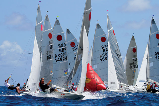 Coolest dinghies: Fireballs line up at their world championship. Photo Tom Gruitt/Creating Waves