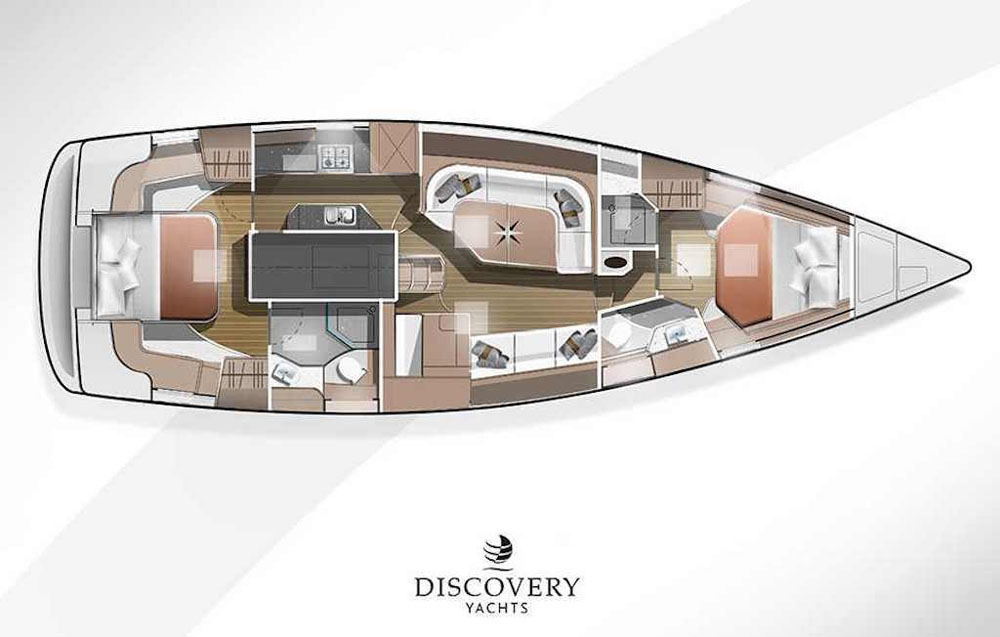 DISCOVERY 48 single-wheel layout