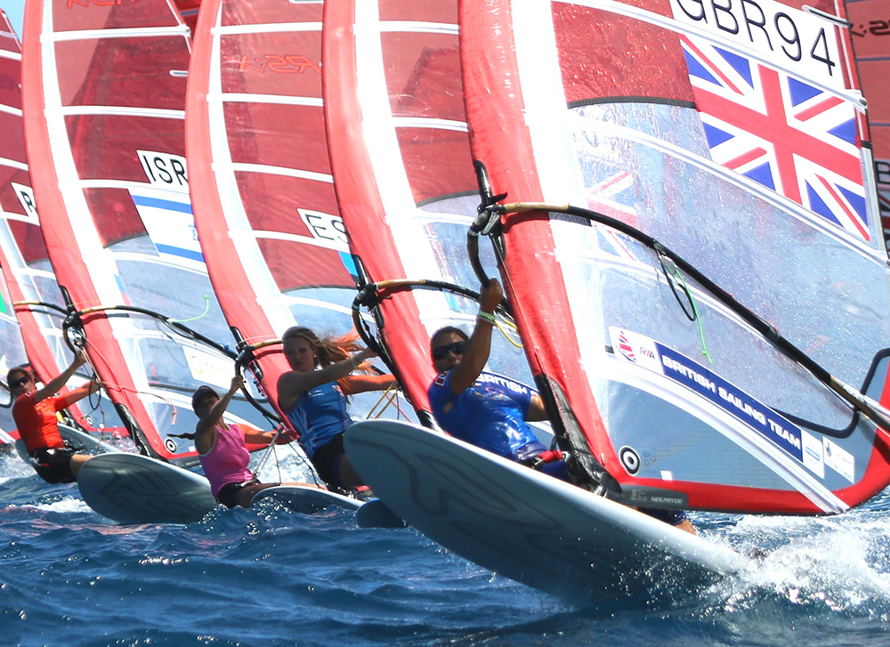 Bryony Shaw wins European windsurfing gold
