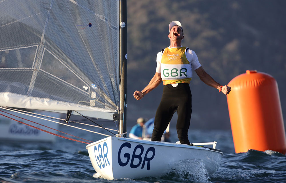 Giles Scott wins gold with a day to spare