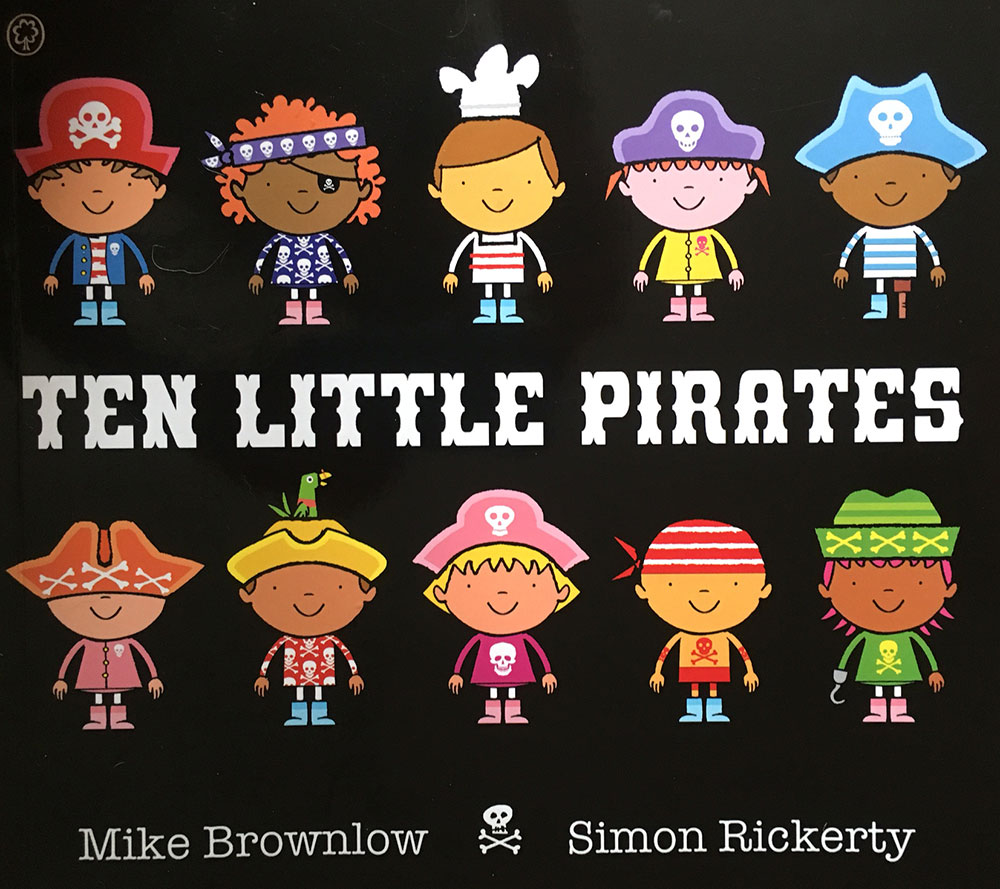 A familiar rhyme adapted into a fun pirate story.