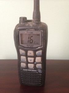 handheld VHF survives 4 months at sea