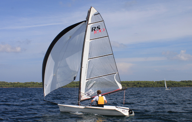 RS100: Slick Singlehander With Spinnaker
