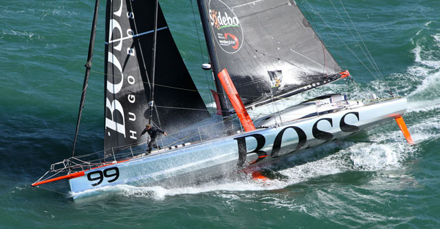 Stunt man of sailing faces Vendee on Hugo Boss