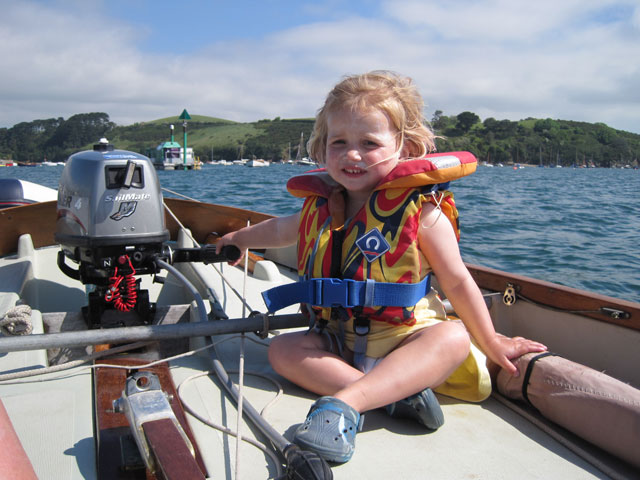 Child on a boat