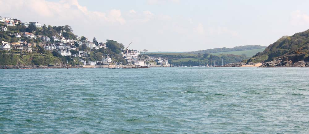 Crossing Lyme Bay arriving at Salcombe