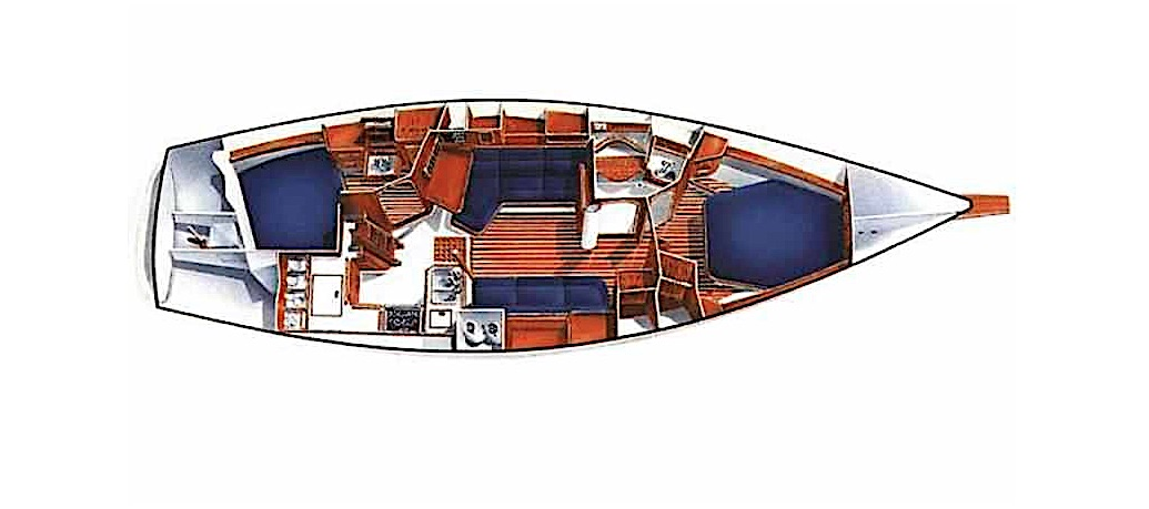 Island Packet 380: long keel yacht plan