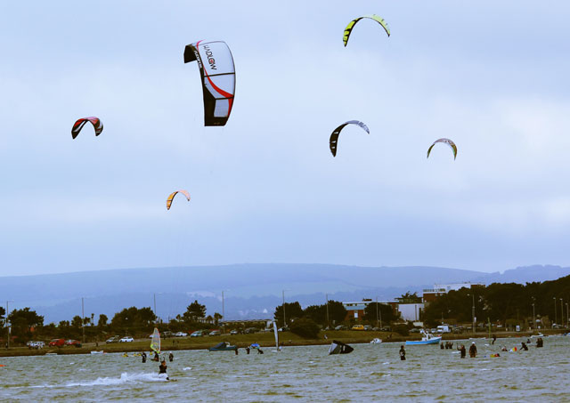 Kitesurfing in Poole Harbour