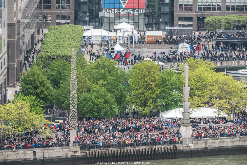 Day one crowds: America's Cup New York