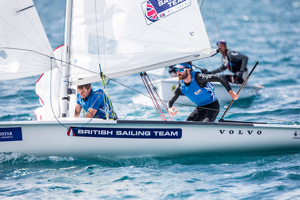 Luke Patience & Chris Grube (470 Men). Credit Richard Langdon/British Sailing Team