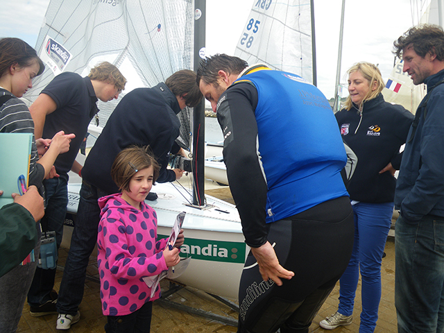 Ben Ainslie doing his bit to inspire kids to take up dinghy sailing