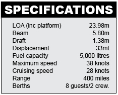 Numarine 78HT Specifications