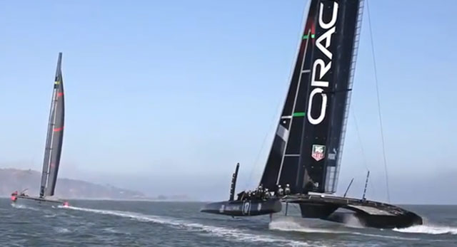 Oracle Team USA goes flying